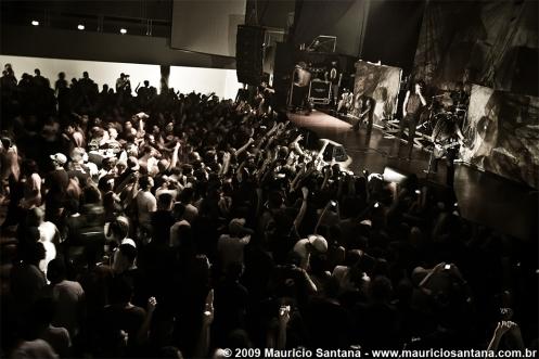 As I Lay Dying ao vivo em São Paulo